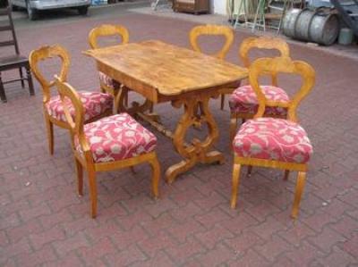 Bider asztal 6 székkel